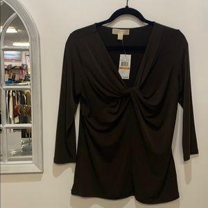Michael kors brown shirt size s NWT